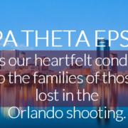 Kappa Theta Epsilon Sorority Rspods to Orlando Mass Shooting