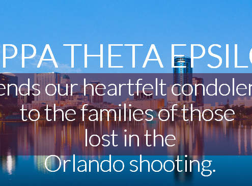 Kappa Theta Epsilon Sorority Rspods to Orlando Mass Shooting